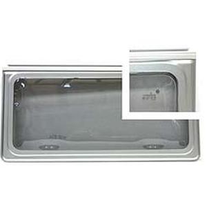 Finestra polyplastic f16 500x550 bordo grigio opaco - Finestre camper polyplastic ...