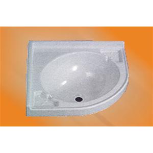 Lavello ad Angolo colore bianco - Arredo toilette -Camper-Interni-Bagno