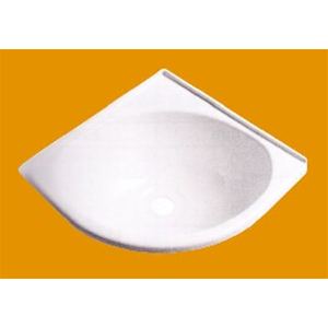 Lavello triangolare abs arredo toilette camper interni - Lavandino bagno camper ...
