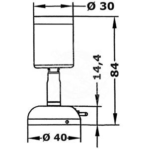Applique 20w snodata in ottone con interruttore - Applique con interruttore ...