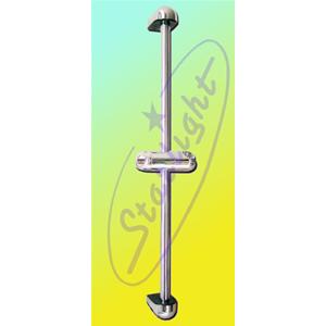 Saliscendi con supporto per doccia rifinitura cromato for Saliscendi per doccia