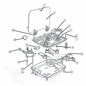 Fissaggio per piani cottura smev serie 8000 ricambi griglie e accessori camper cucina e - Ricambi rubinetti cucina ...