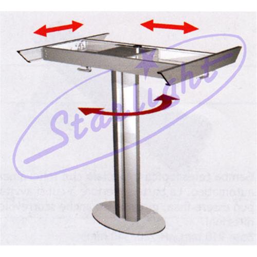 Gambe In Alluminio Per Tavoli.Gamba Tavolo In Alluminio Scorrevole 4 Direzioni Girevole